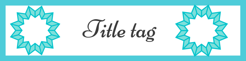title tag of onpage optimization